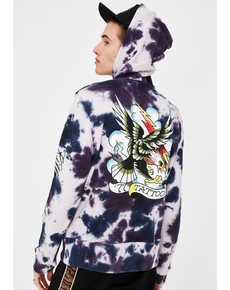 Eagle Tie Dye Hoodie