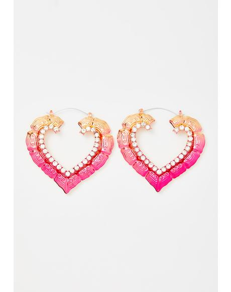 Precious Heart Door Knocker Earrings