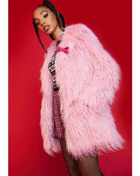Matters Of The Heart Faux Fur Coat