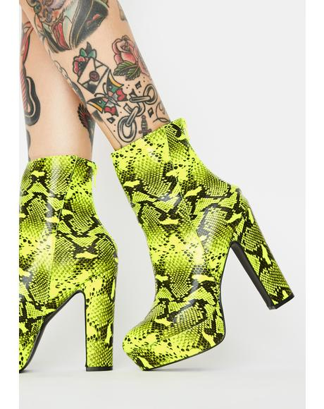 Toxic State Heeled Booties