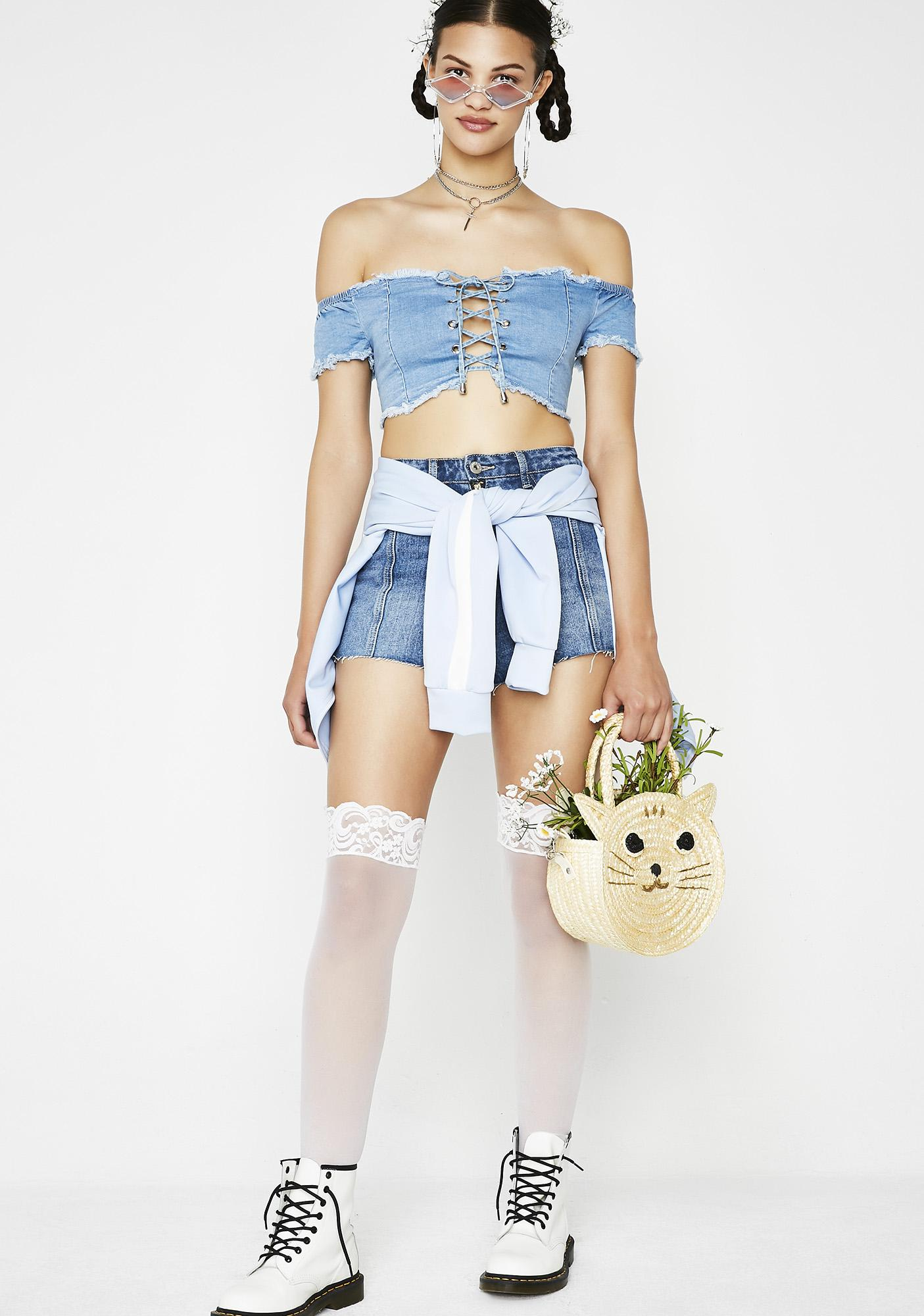 Farm Fresh Denim Top