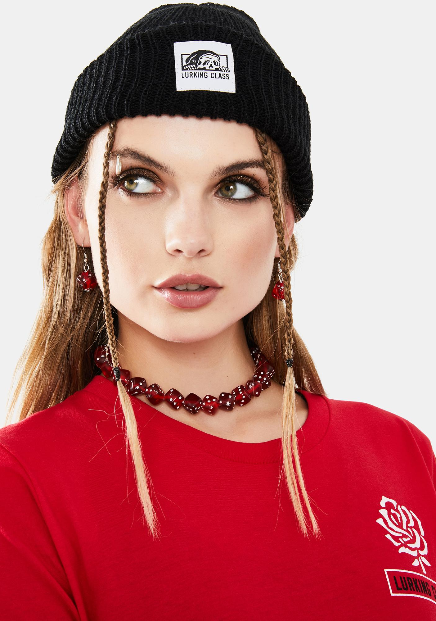 Blazed Bet On Me Choker And Earrings Set
