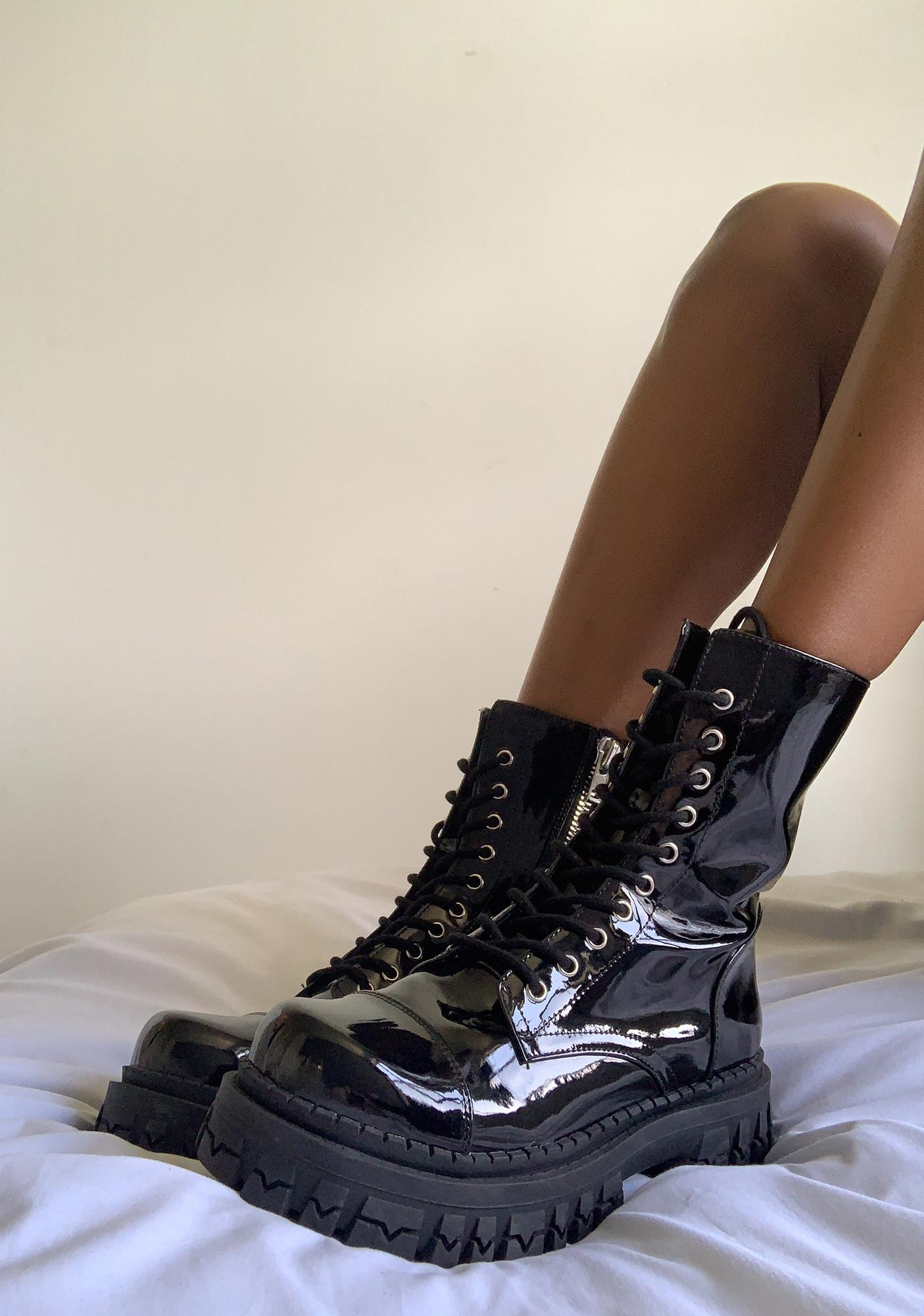 dELiA*s by Dolls Kill Rev It Up Combat Boots