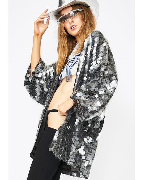 Smokescreen Sequin Kimono