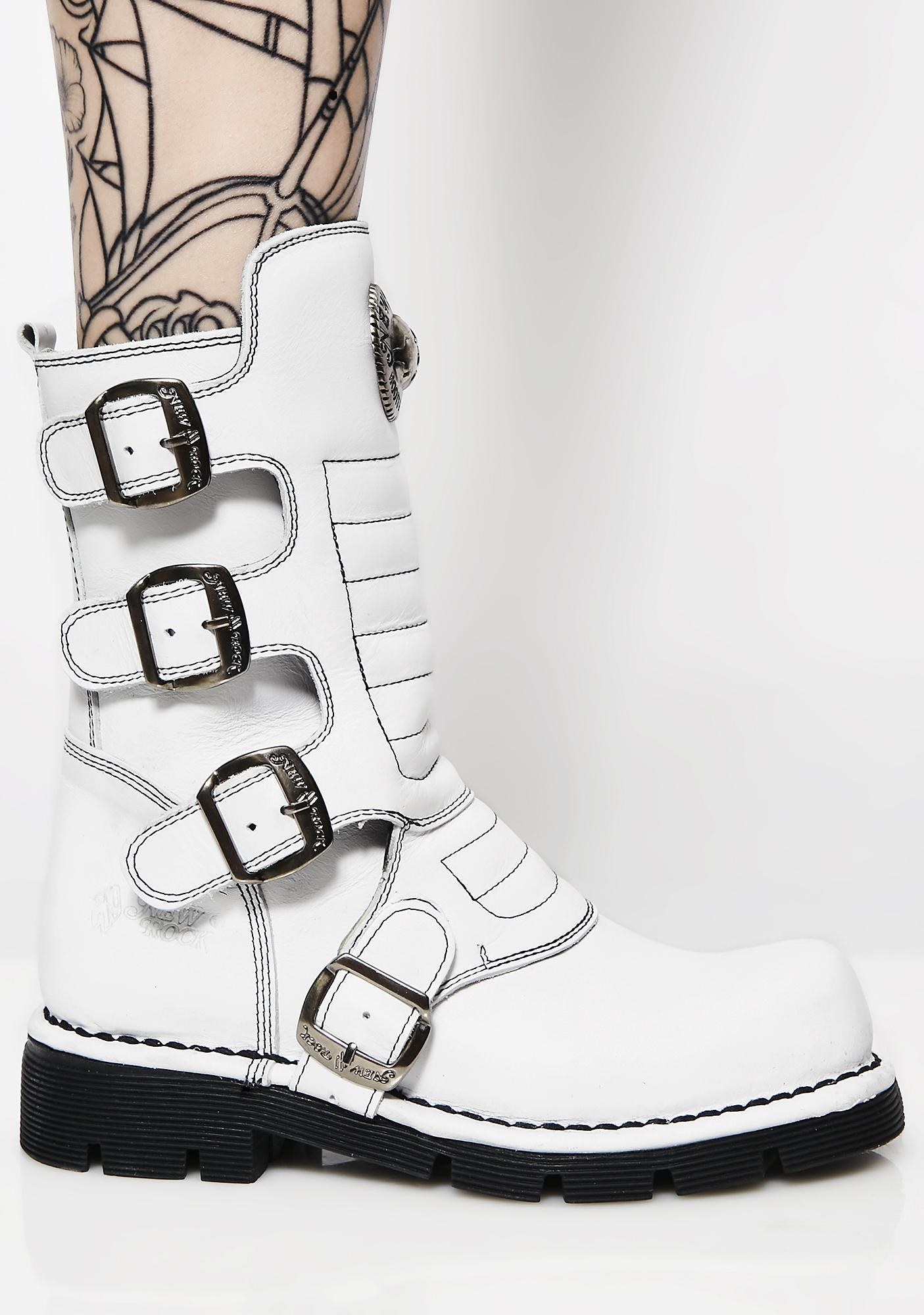 New Rock Colder Than Ice Combat Boots