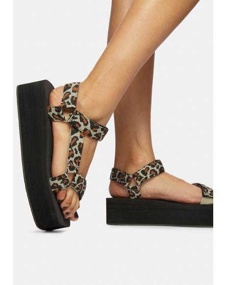Purrfect Leopard Gonna Getcha Platform Sandals