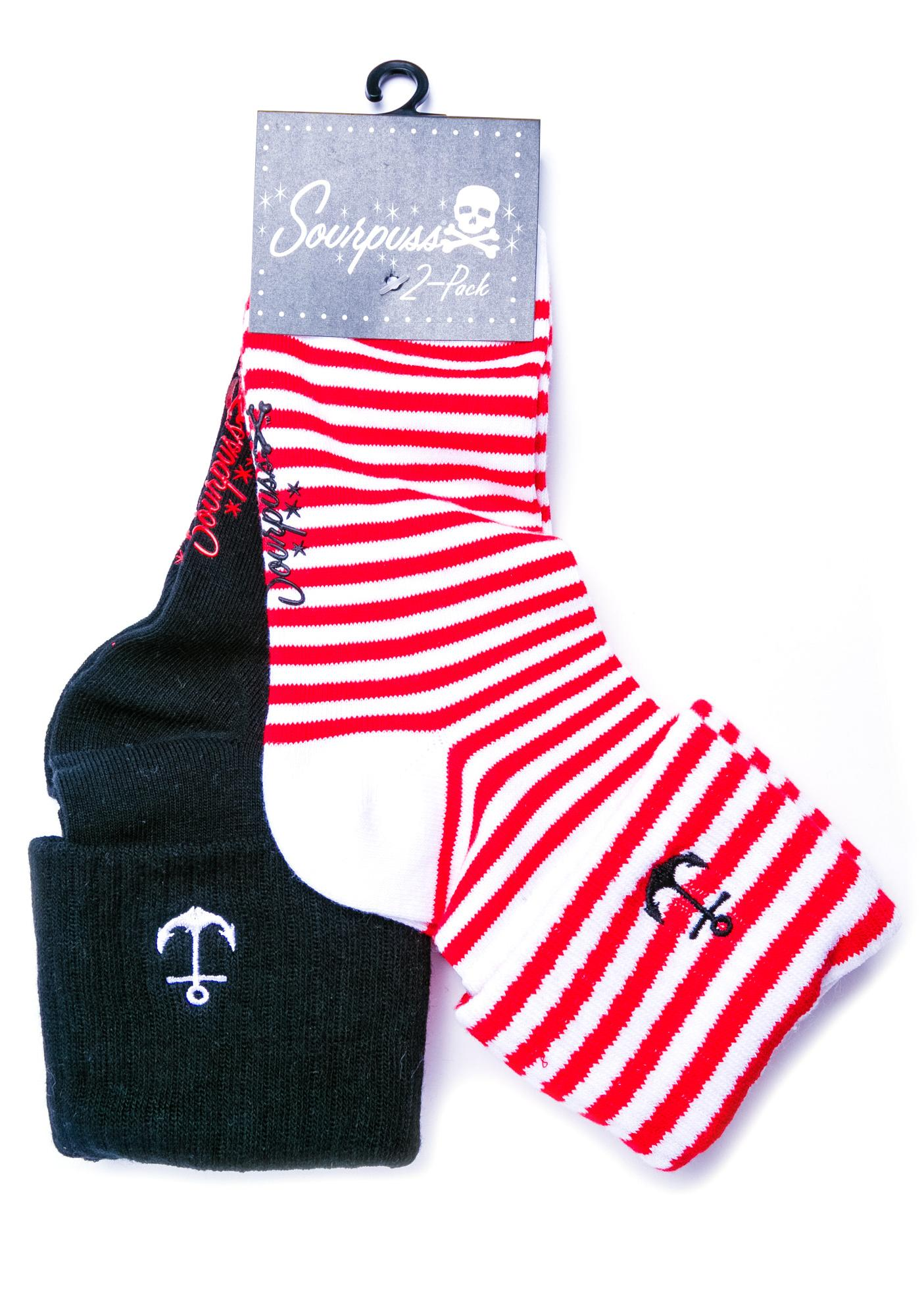 Sourpuss Clothing Anchor Socks Set