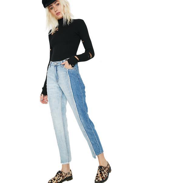 Glamorous Split Jeans