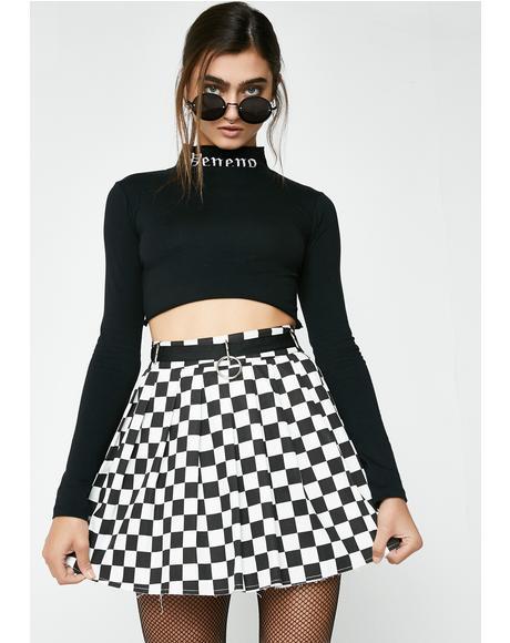 Fast N' Furious Checkered Skirt