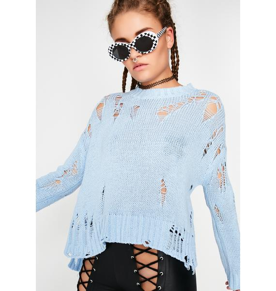 Goin' Thru It Distressed Sweater