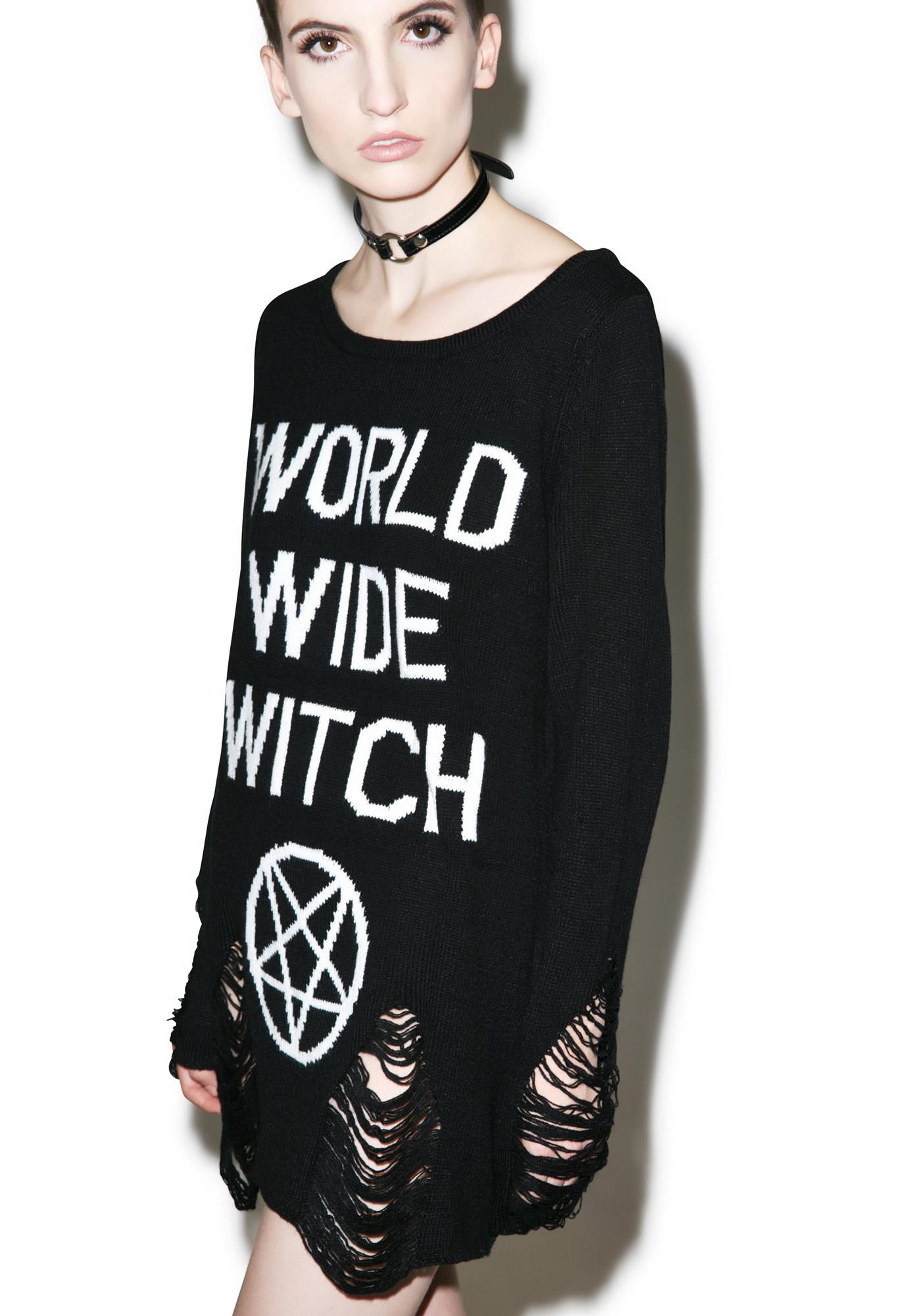 Killstar WWW Knit Sweater