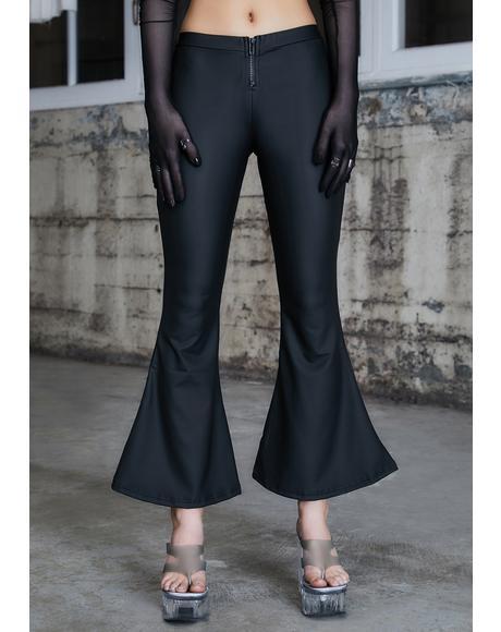 Kickdrum Matte Black Flare Pants