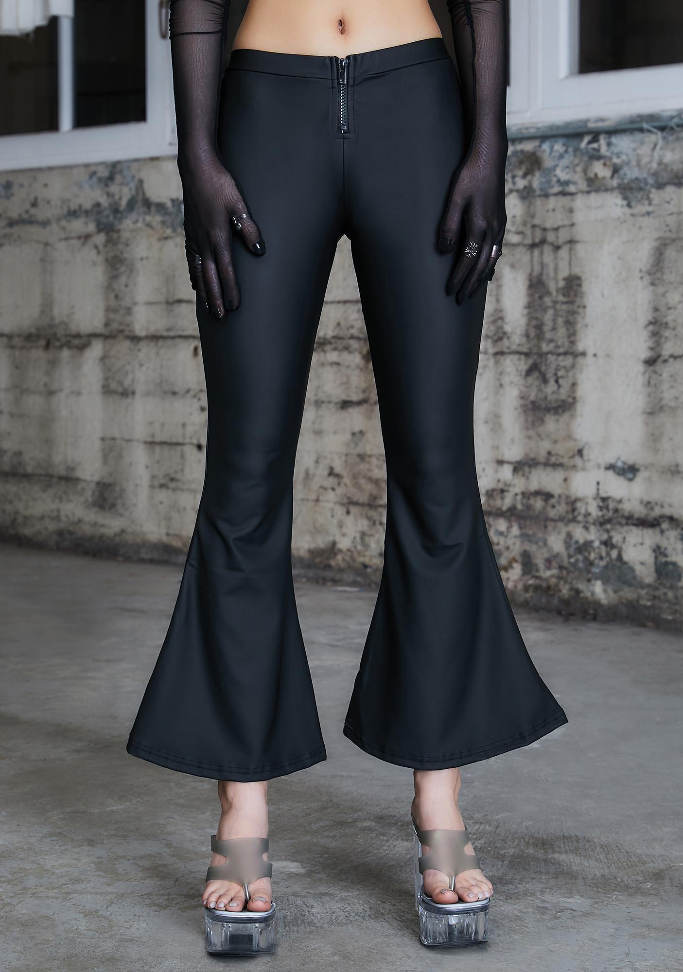 DARKER WAVS Kickdrum Matte Black Flare Pants