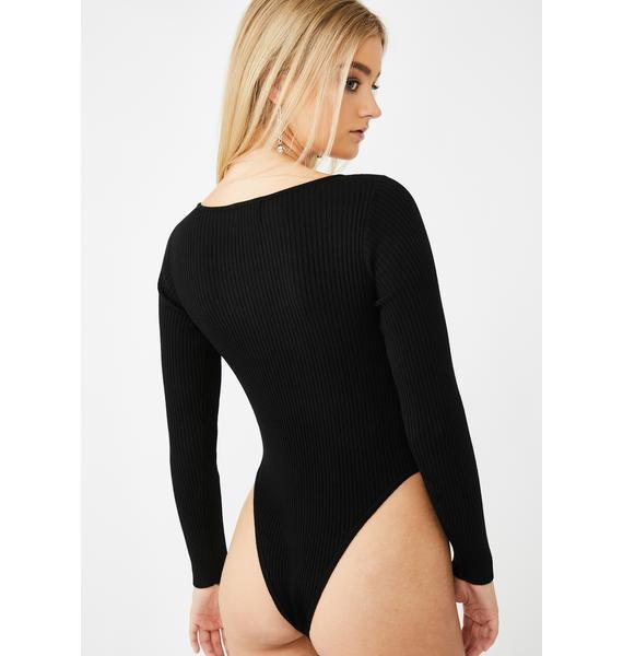SNDYS. THE LABEL Black Ryder Knit Bodysuit