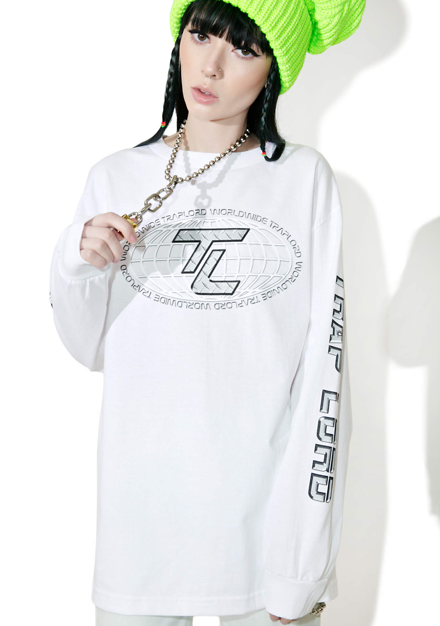 Traplord Globe Long Sleeve Top