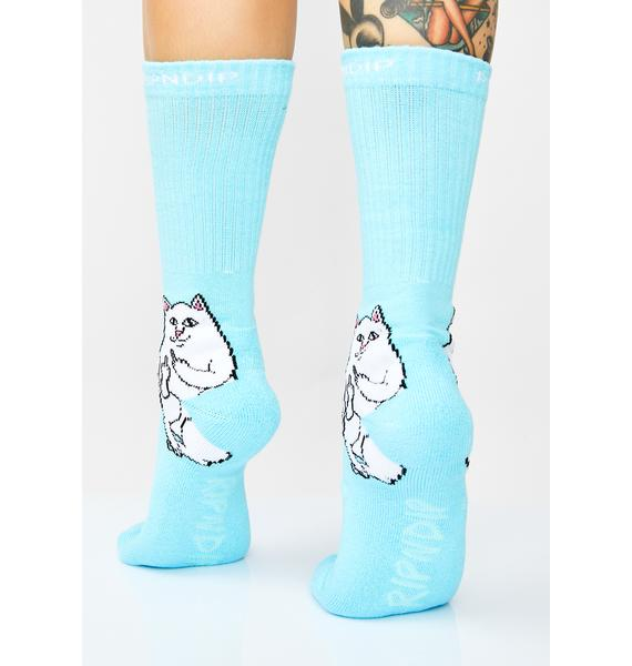 RIPNDIP Baby Blue Lord Nermal Socks
