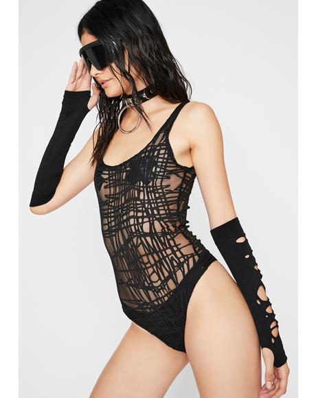 Into Dystopia Sheer Bodysuit