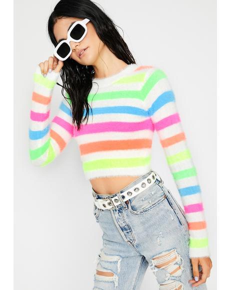 Icy Hey Sweetie Fuzzy Sweater