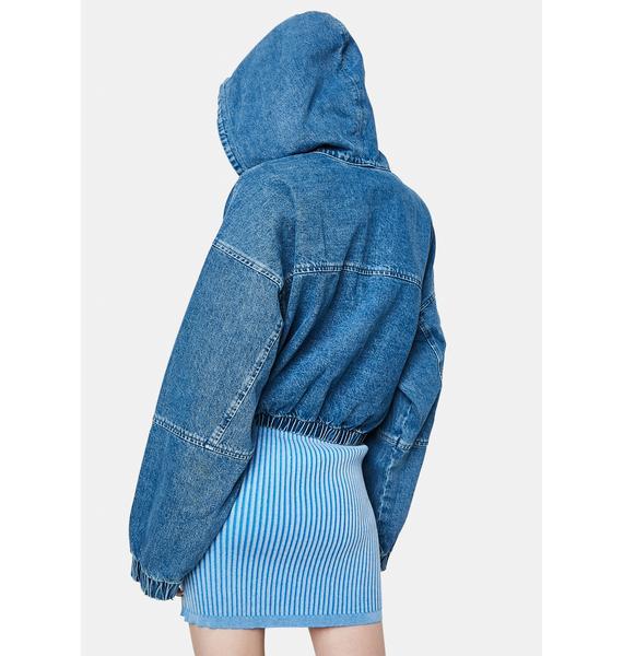 BDG Patch Pocket Crop Denim Jacket