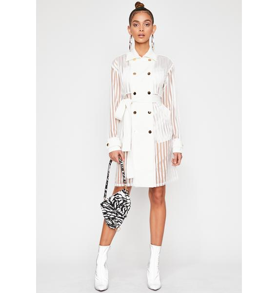 Pure No Filter Sheer Trench Coat
