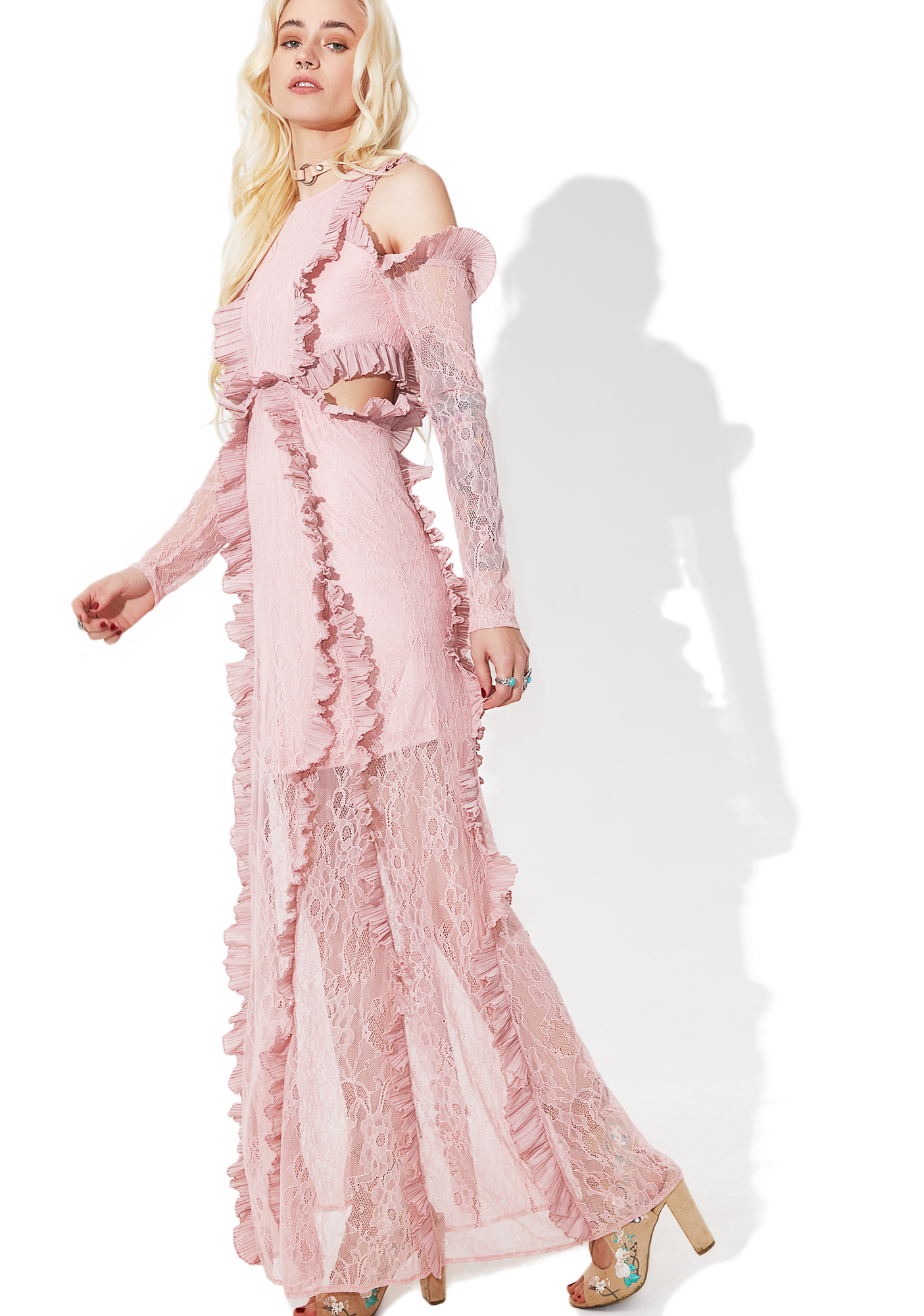 Glamorous Tribute Ruffled Maxi Dress