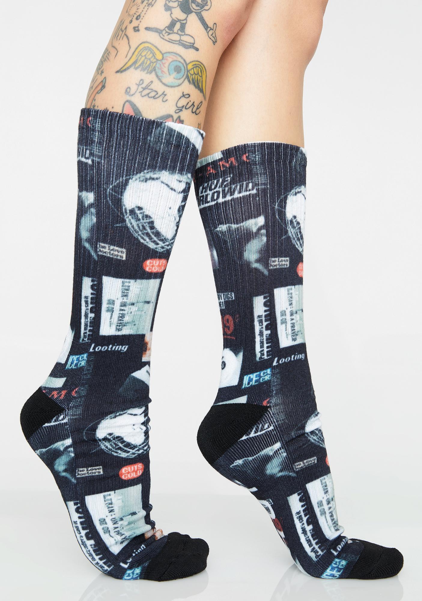 HUF Headlines Socks