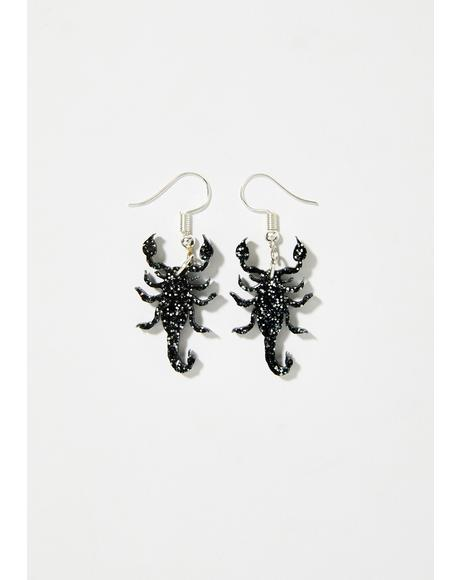 Scorpion Glitter Earrings