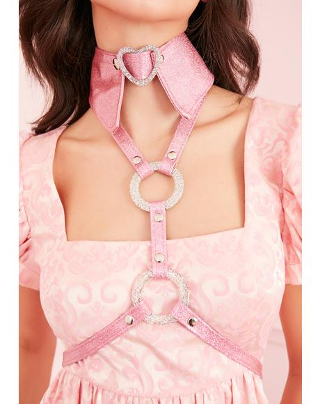 Sparkling Heart Collar Harness