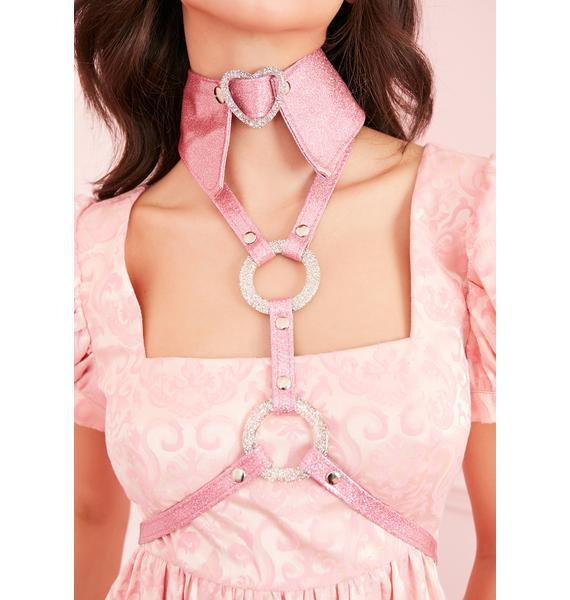 Devil666ish Sparkling Heart Collar Harness