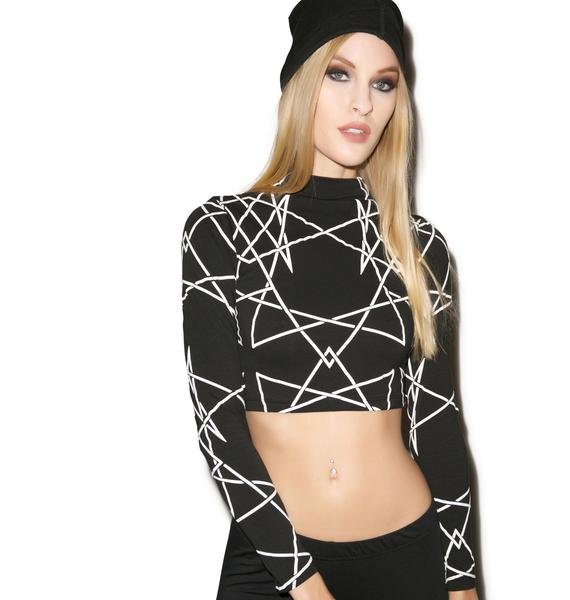 Long Clothing Infinity Long Sleeve Crop Top