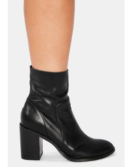 Kaya Leather Ankle Booties