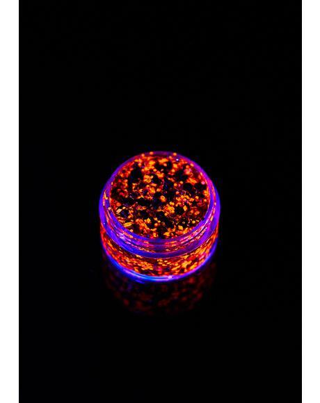 Ember Orange UV Unicorn Glitter Gel