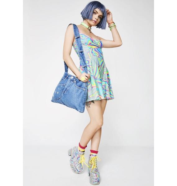 Current Mood Totally Trippin' Mini Dress