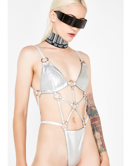 Chrome Hardcore Strappy Bodysuit