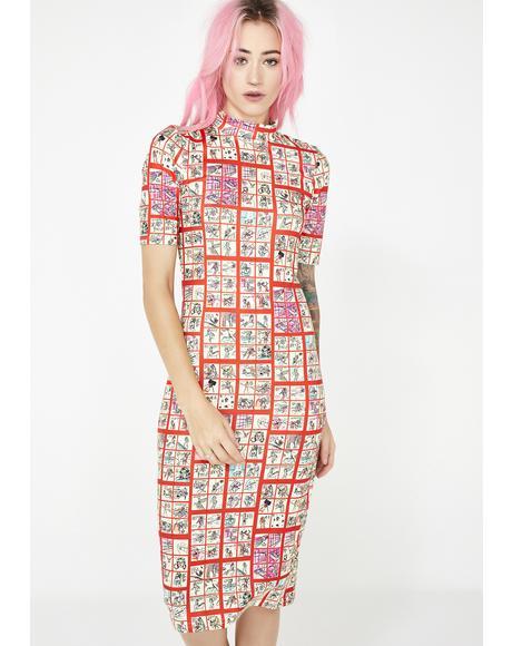 Comic Print Dress