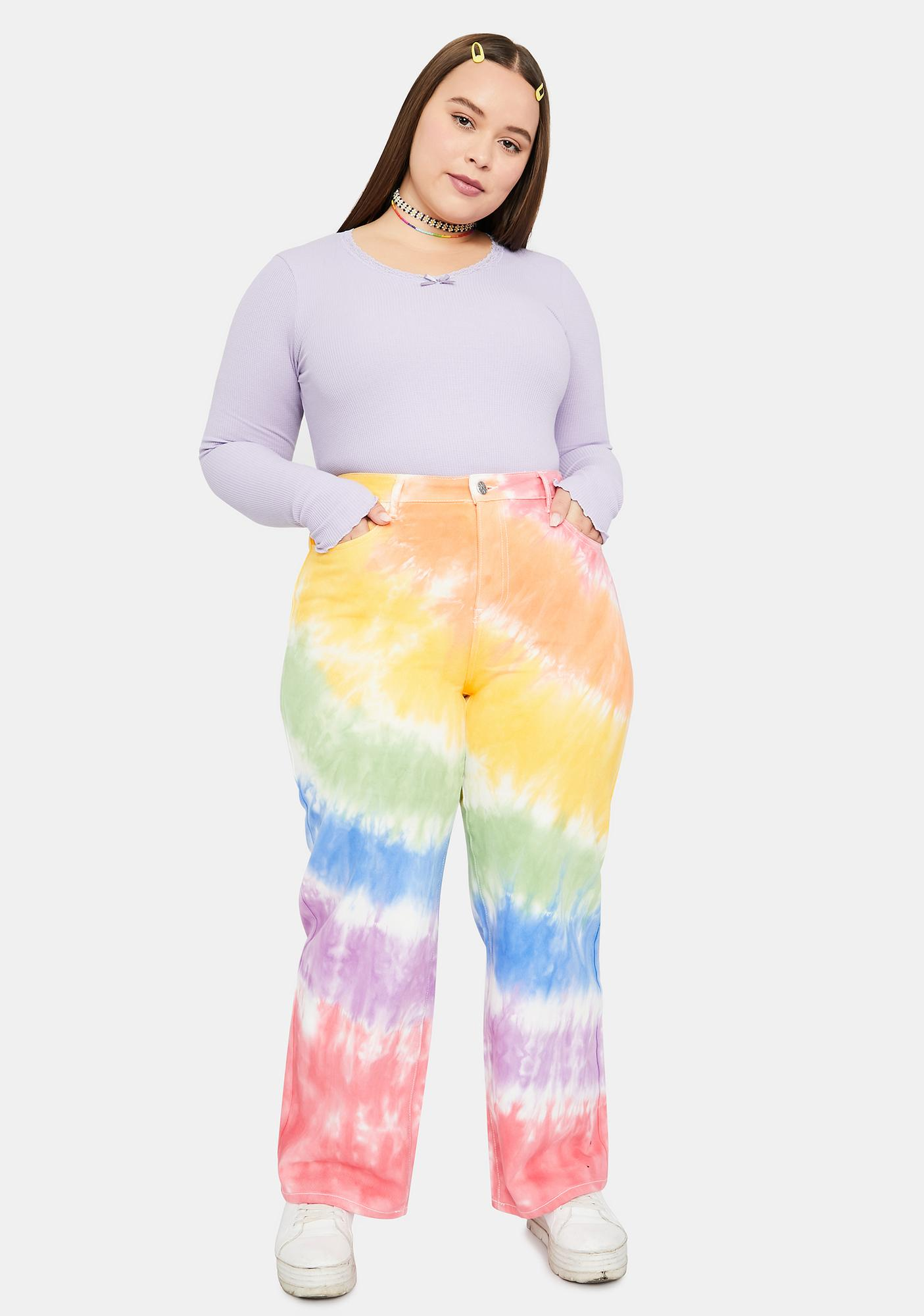 dELiA*s by Dolls Kill Her Jolly Happy Soul Tie Dye Jeans