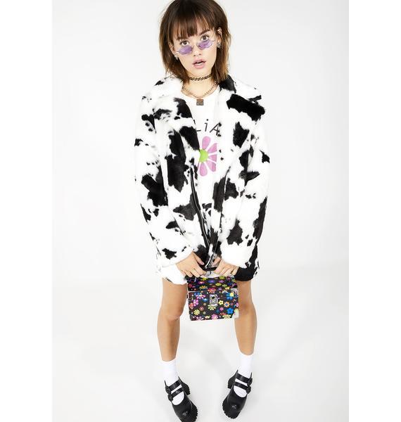 dELiA*s by Dolls Kill Animal Behavior Faux Fur Coat