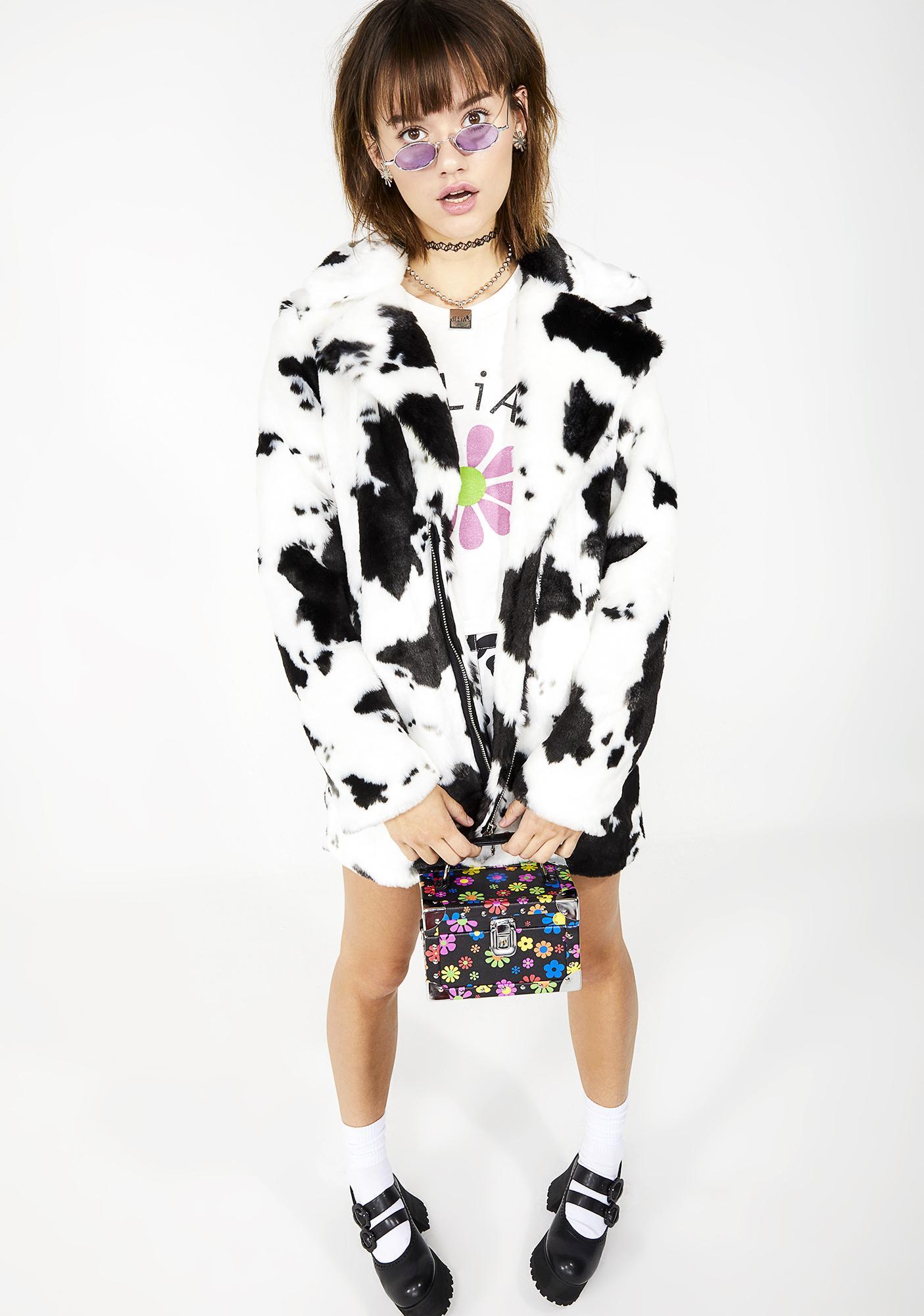 05cdfc695 dELiA s by Dolls Kill Animal Behavior Faux Fur Coat