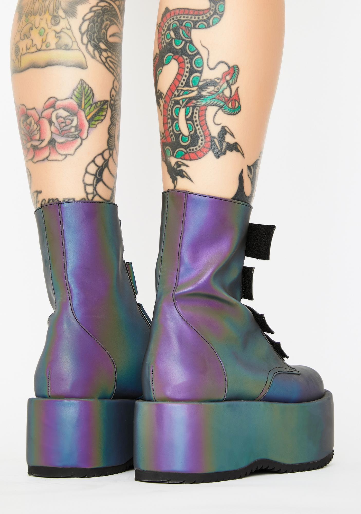 Current Mood Eye Of The Storm Reflective Platform Boots