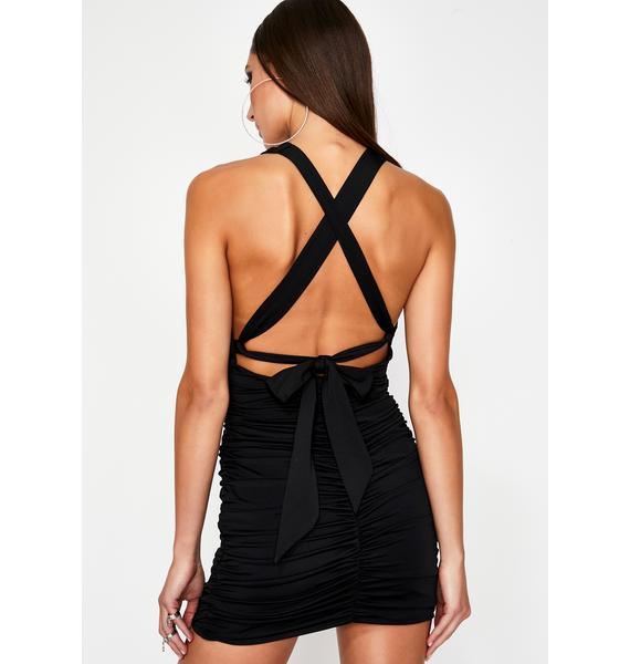 Noir Cuz I Slay Mini Dress