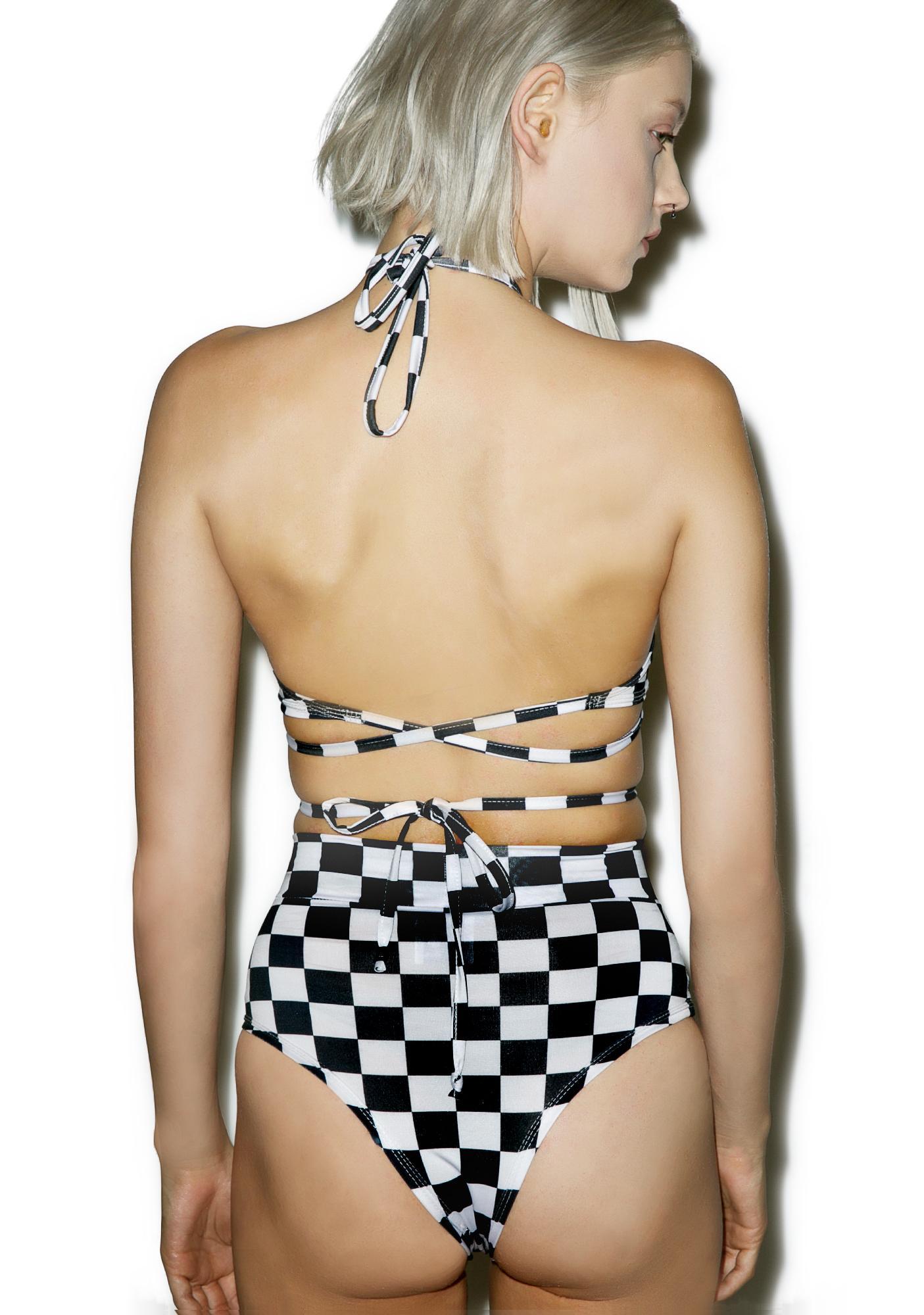 Rolita Rave Couture Checker Wrap Set