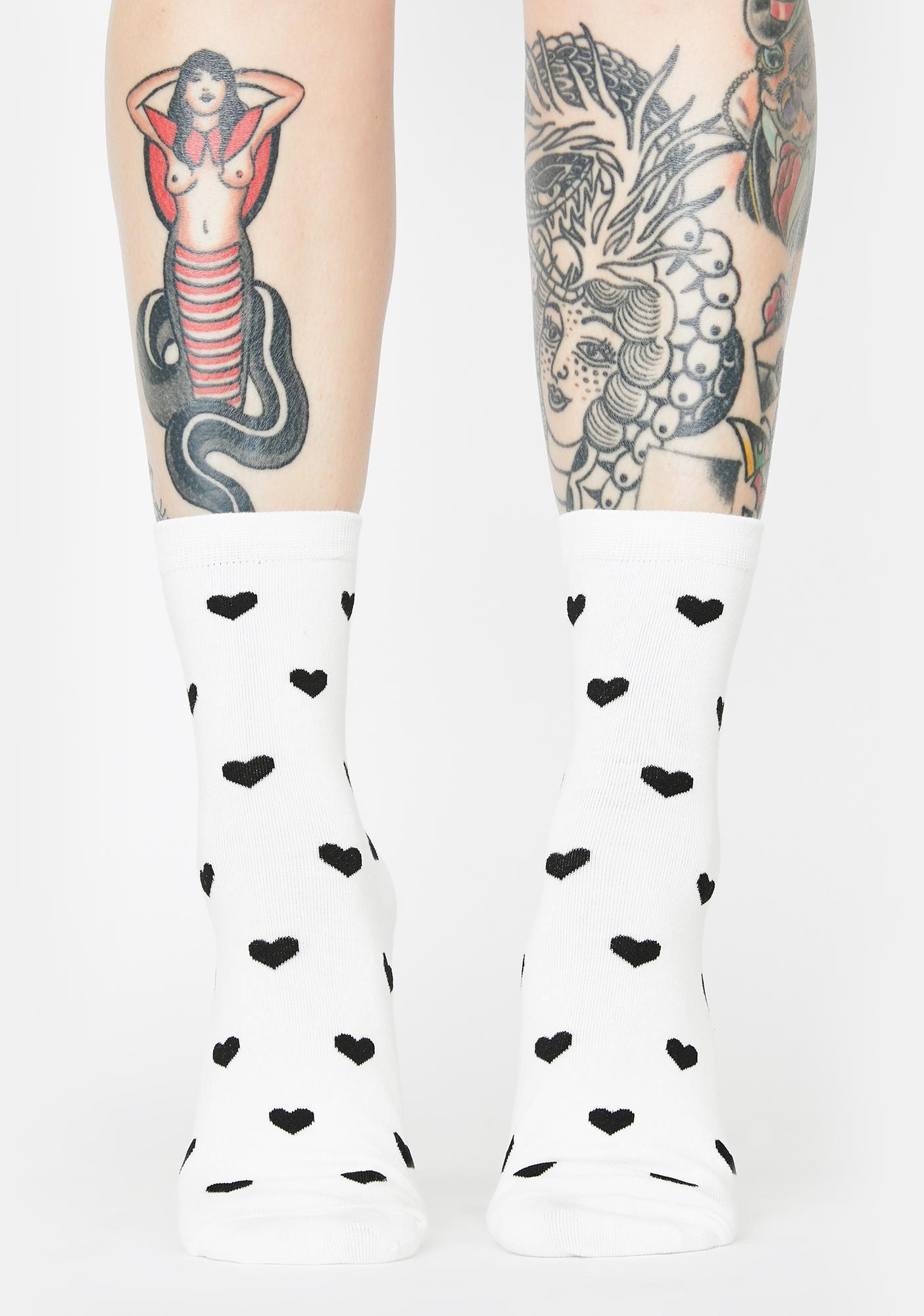 Heart Knock Life Crew Socks