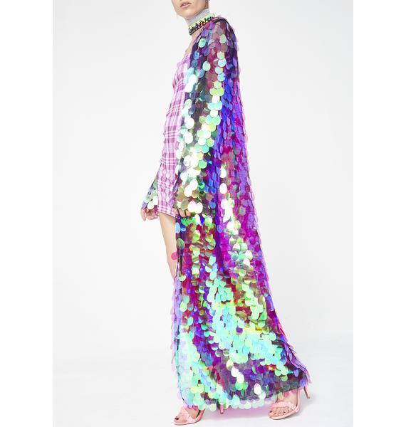 Jaded London Sequin Maxi Kimono