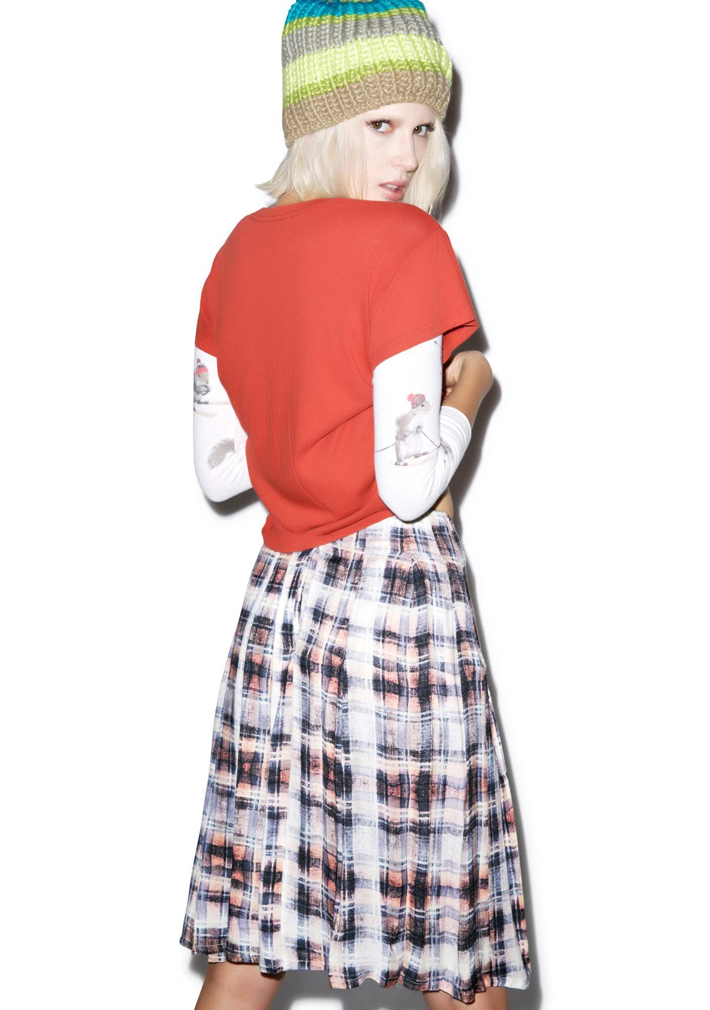 Evil Twin Faded Glory Midi Skirt