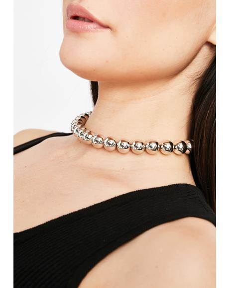 Runway Punk Ball Choker