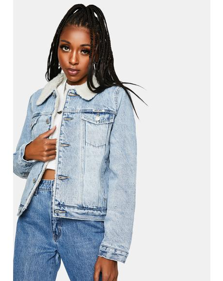 Stella Sherpa Lined Denim Jacket