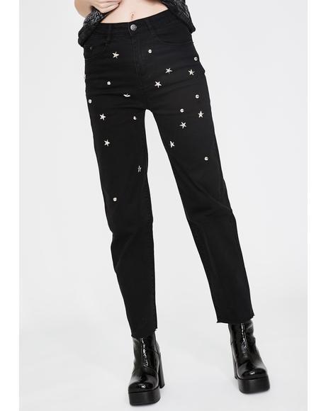 Studded Slim Jeans