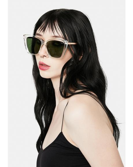 Clear Aloha Fox Oversized Sunglasses