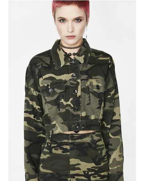 Dipped Out Camo Jacket
