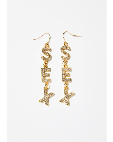 Letz Talk 'Bout Sex Earrings